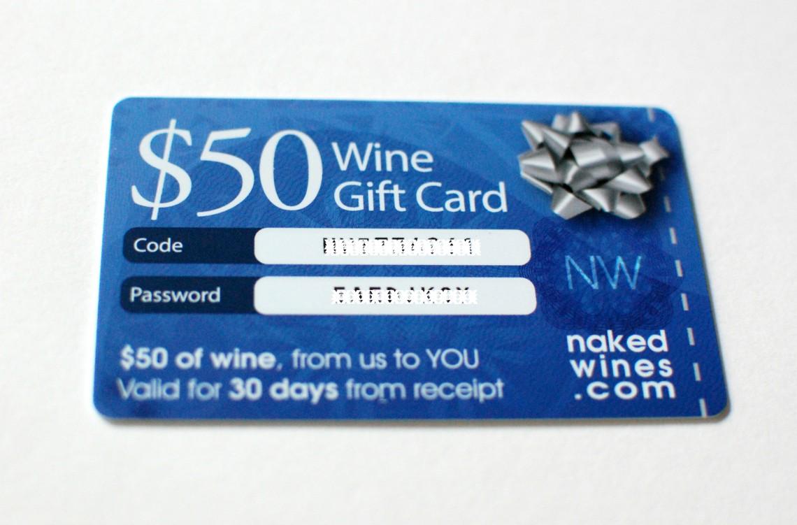 $50 of wine.