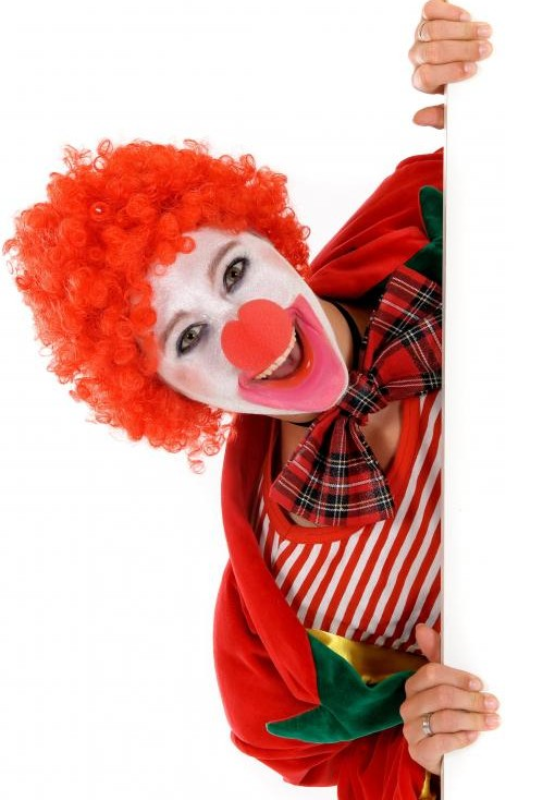 Okay, fine. You get ONE clown. No more.