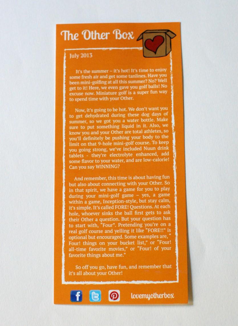 Activity card