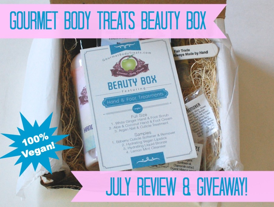 Gourmet Body Treats beauty box July review & giveaway