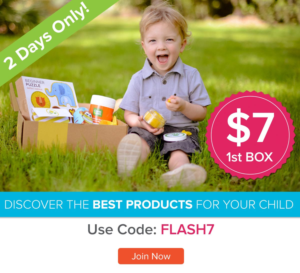 "Get your first Citrus Lane box for just $7 with promo code ""Flash7""."