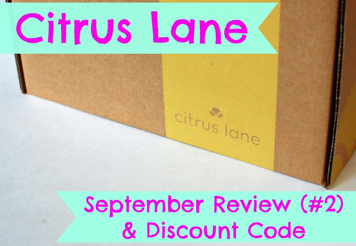 Citrus Lane September 2014 Review & Discount Code