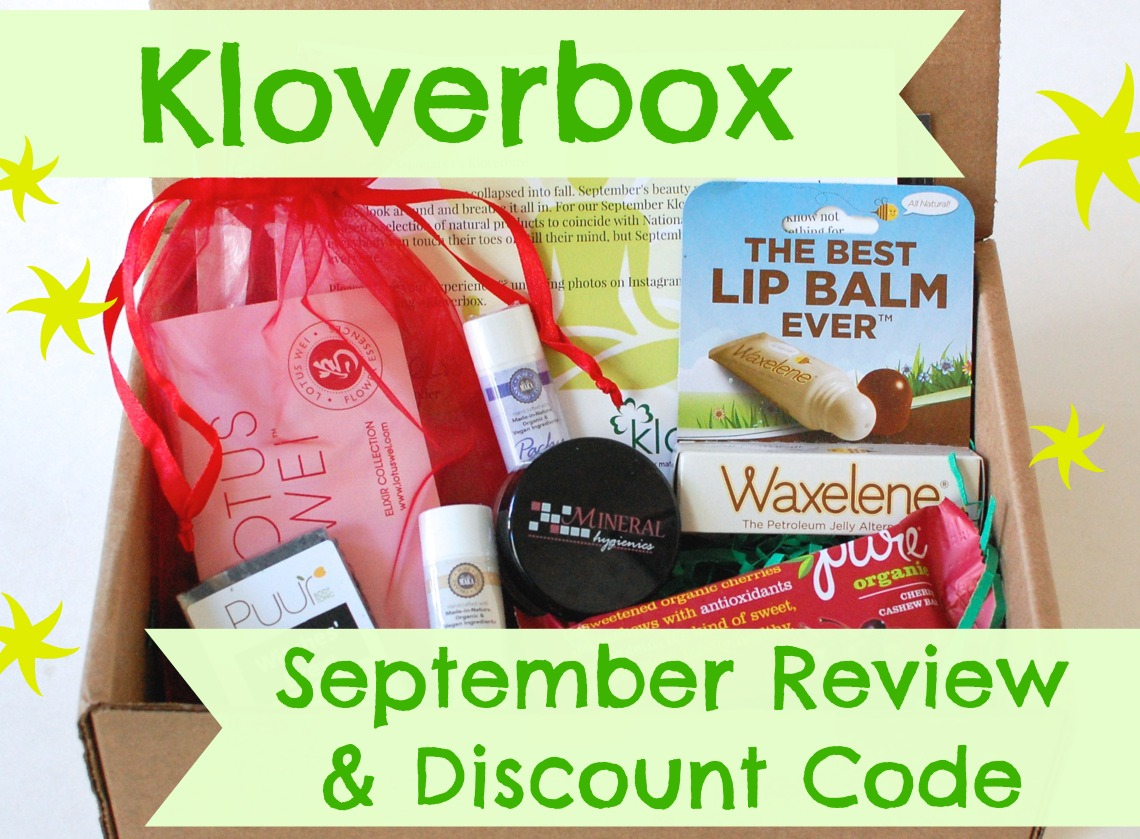 Kloverbox September review & discount code