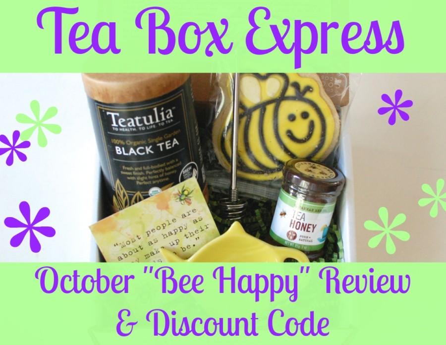 "Tea Box Express October ""Bee Happy"" review & discount code"