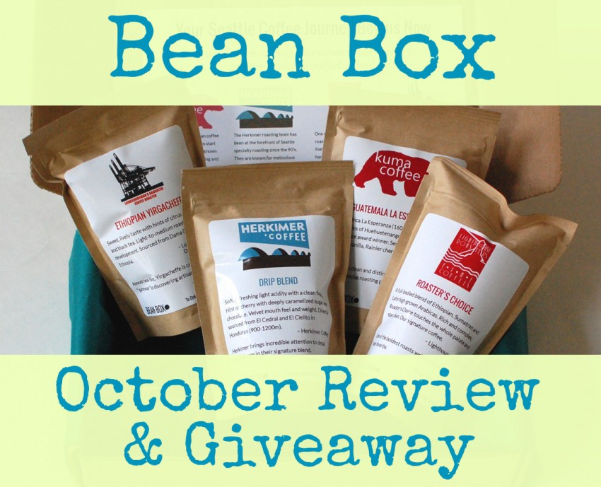 Bean Box October review & giveaway