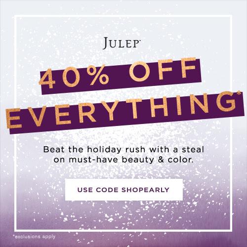 Julep 40% off sale