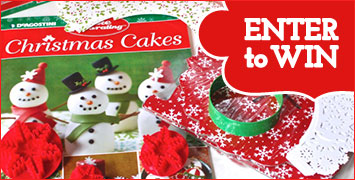 Enter to Win a Christmas Cake Decorating Kit (10 Winners!)