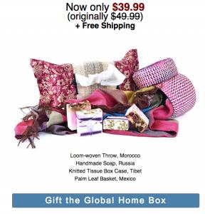 GlobeIn holiday box home