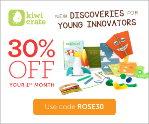 Kiwi Crate 30% OFF Your 1st Month - Use code ROSE30