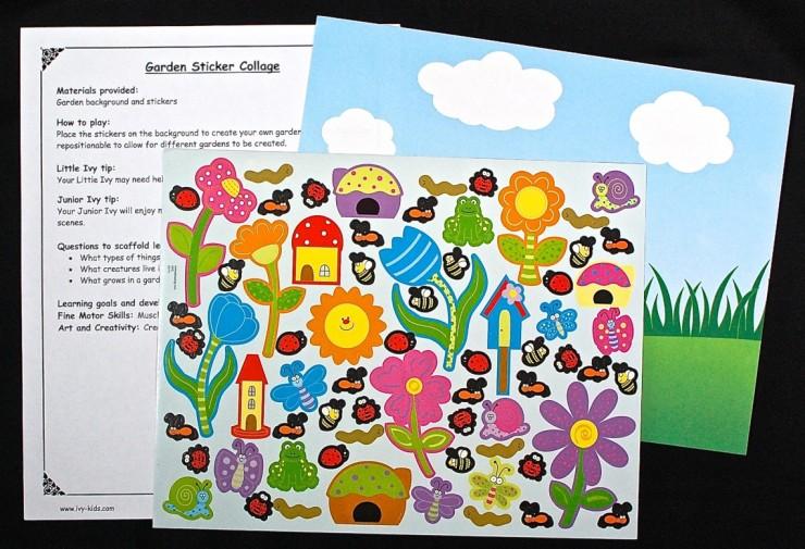 garden sticker collage