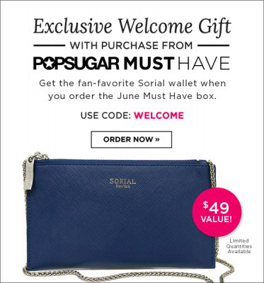 POPSUGAR Must Have exclusive welcome gift - use code WELCOME