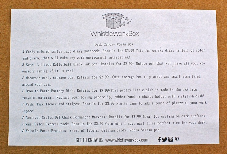 June Whistle Work Box