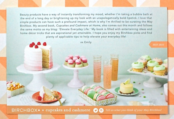 Cupcakes and Cashmere Birchbox