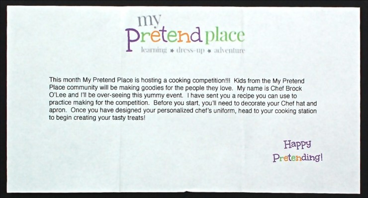 My Pretend Place chef