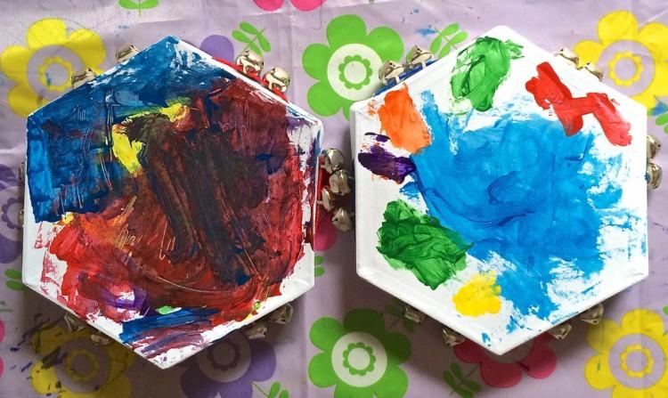 painted tambourines