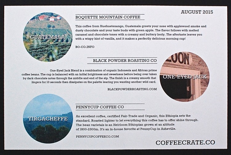 Coffee Crate August 2015