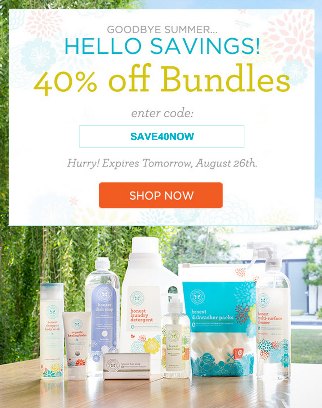 honest company 40% off