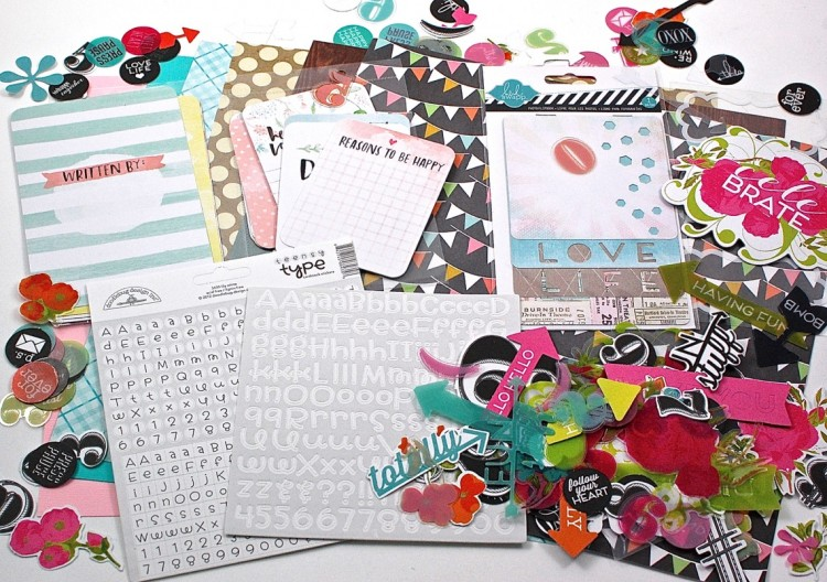 Paper Goose August 2015 Scrapbooking Box Review