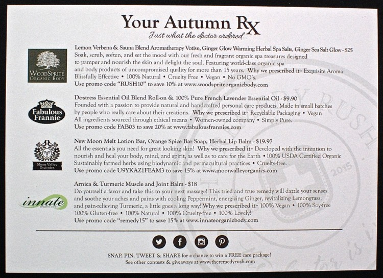 Autumn The Remedy Rush