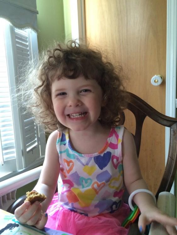 Chloe eating