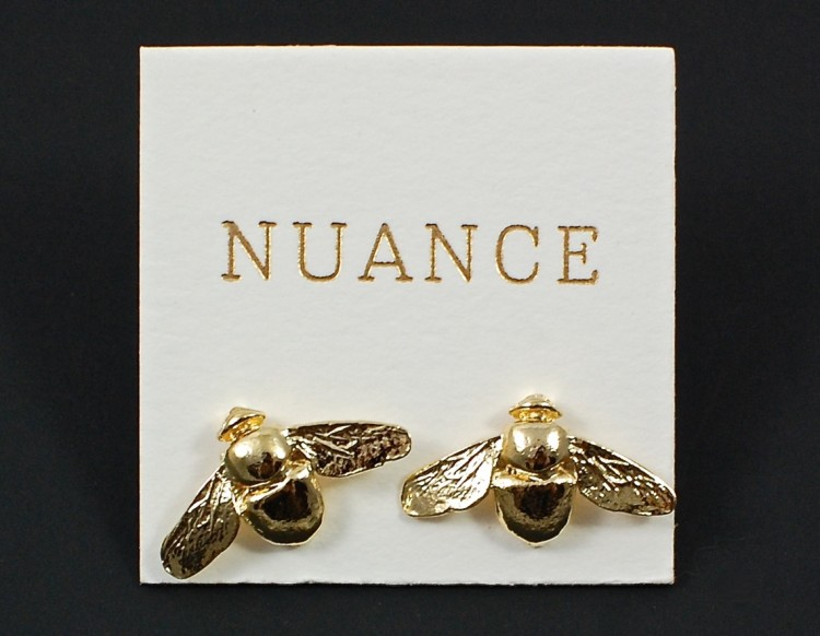Nuance bee earrings