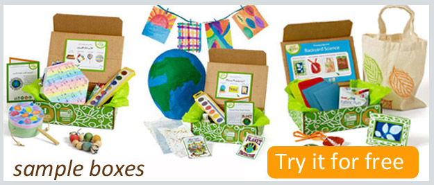 Free Green Kid Crafts box