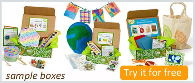 Free Green Kid Crafts box