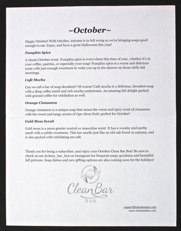 October 2015 Clean Bar Box