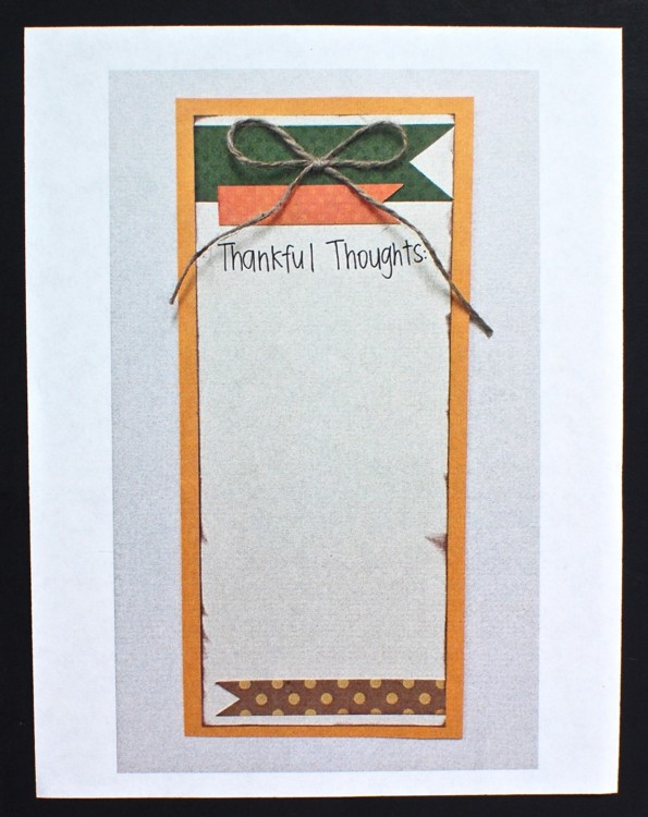 thankful thoughts craft