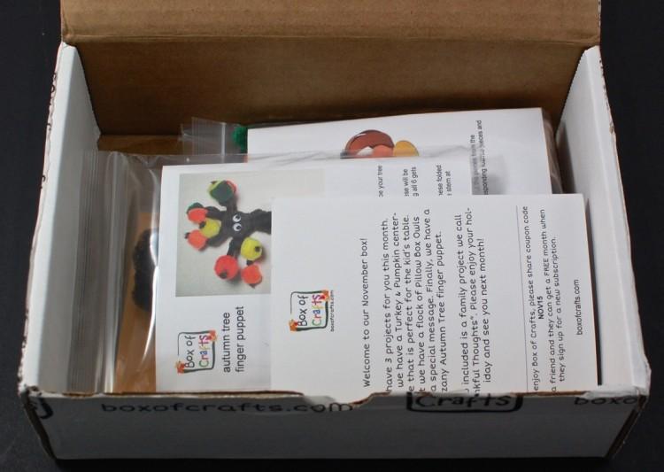 November Box of Crafts