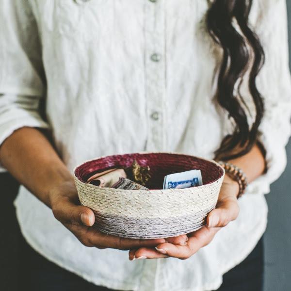 GlobeIn fabric bowl