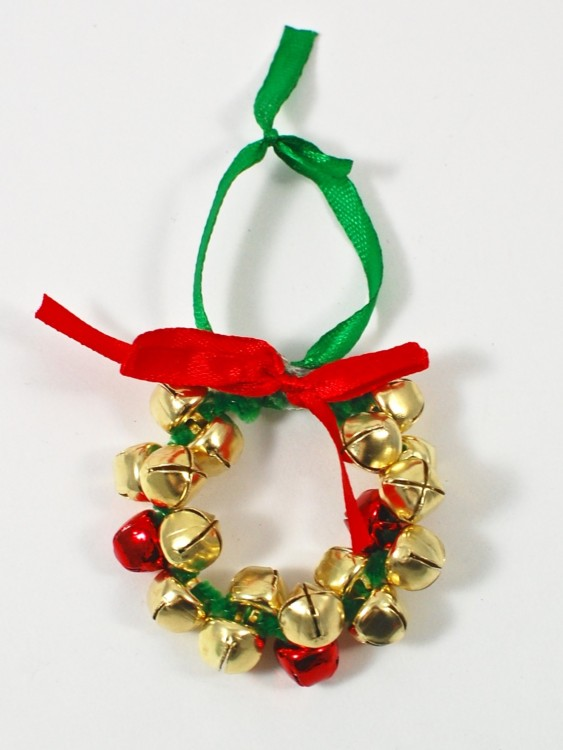jingle bell wreath ornament