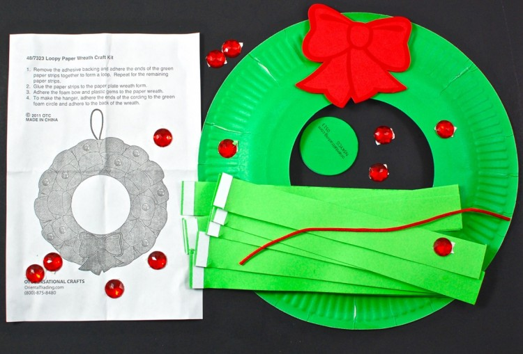 loopy christmas wreath