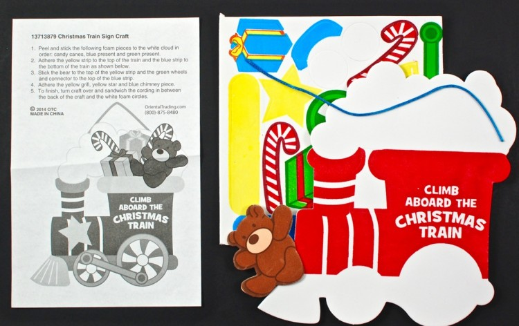 santa train craft