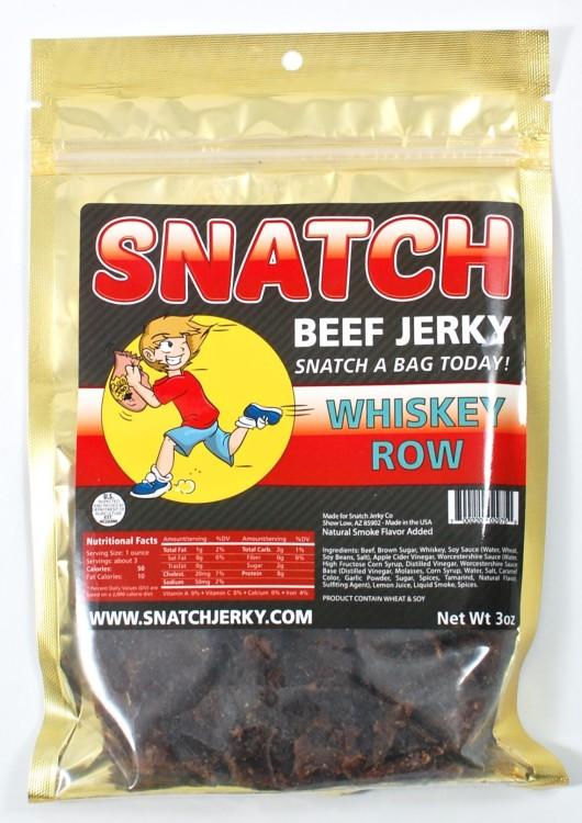 SNATCH beef jerky whiskey row
