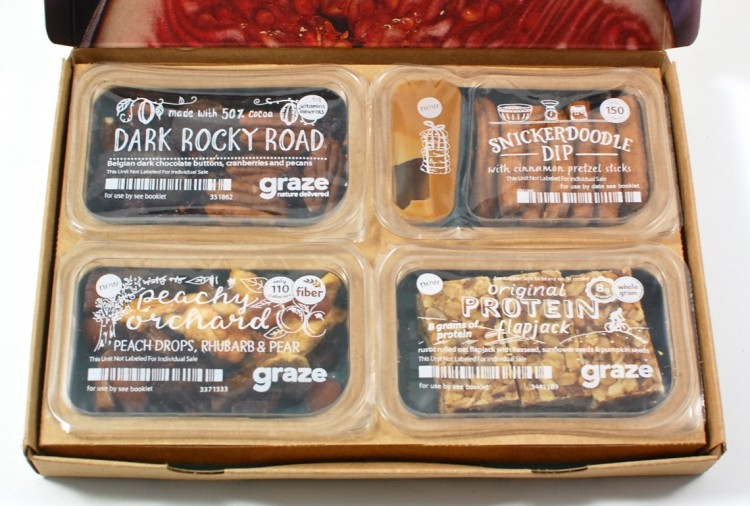 Graze box snacks