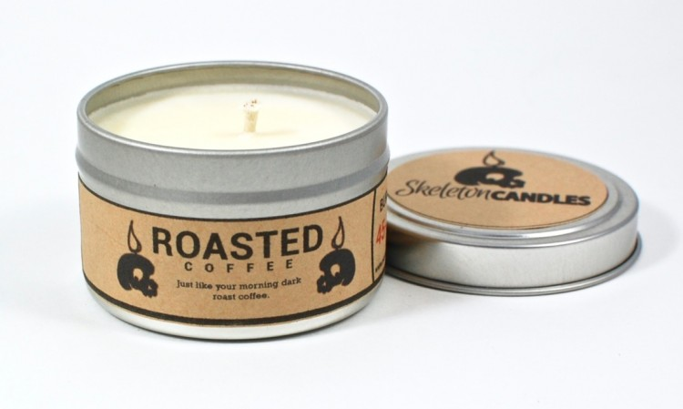 Skeleton Candles roasted coffee