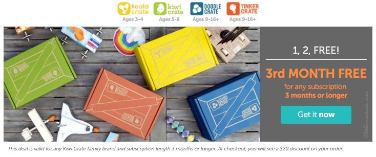 Kiwi Crate free box