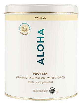 ALOHA vanilla protein powder kit