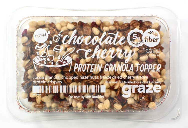 graze yogurt topping