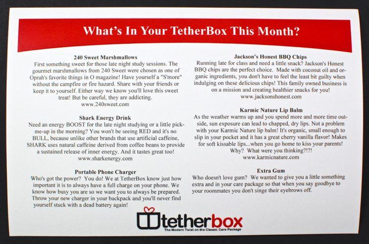 April 2016 TetherBox review