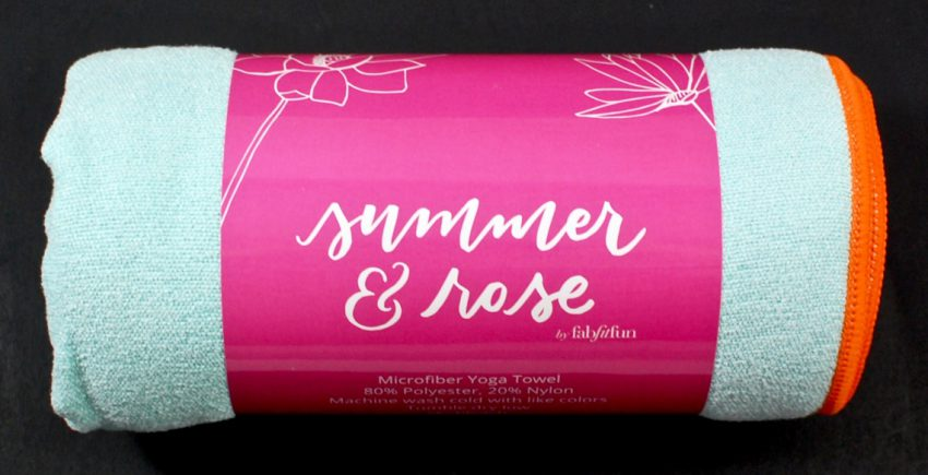 Summer & Rose yoga towel