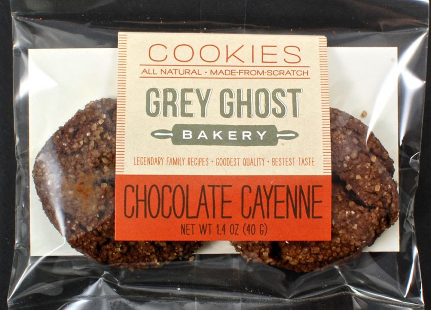 Grey Ghost chocolate cayenne cookies