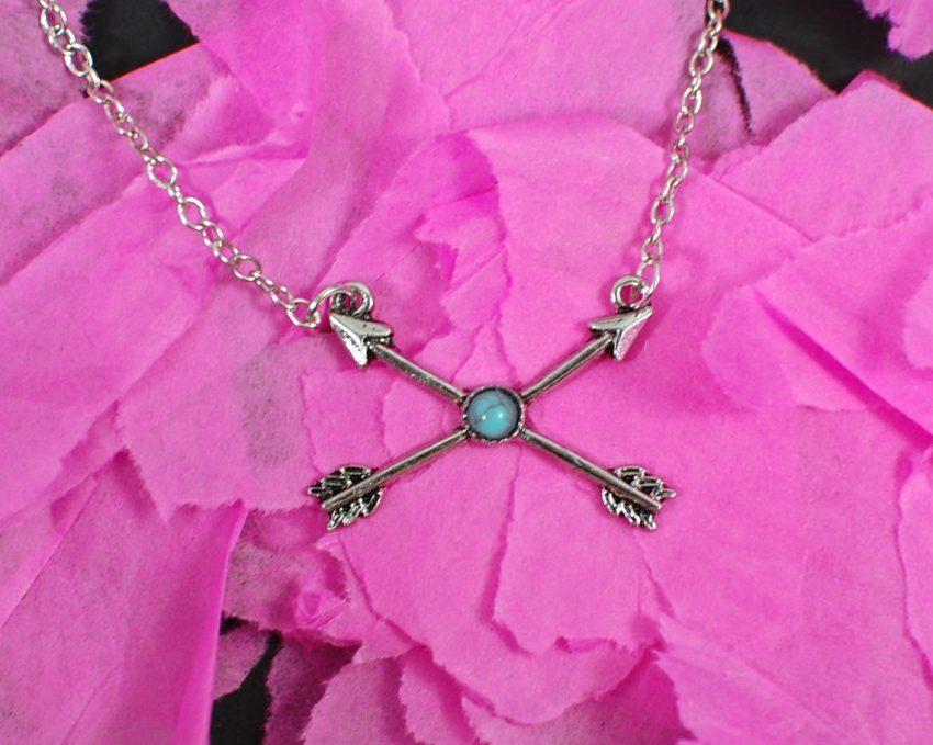 crossed arrow necklace