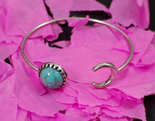 turquoise moon bracelet
