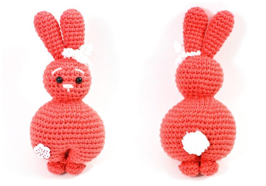 handknit bunny