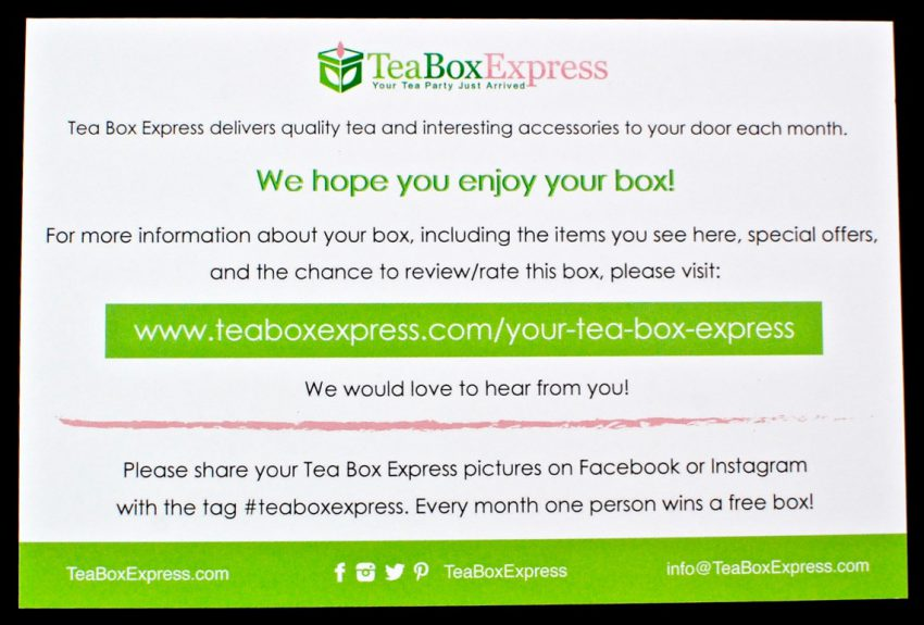 Tea Box Express review