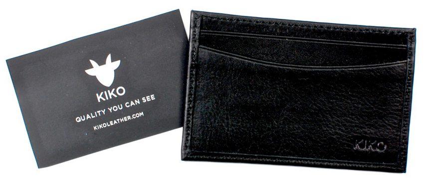 Kiko leather card case