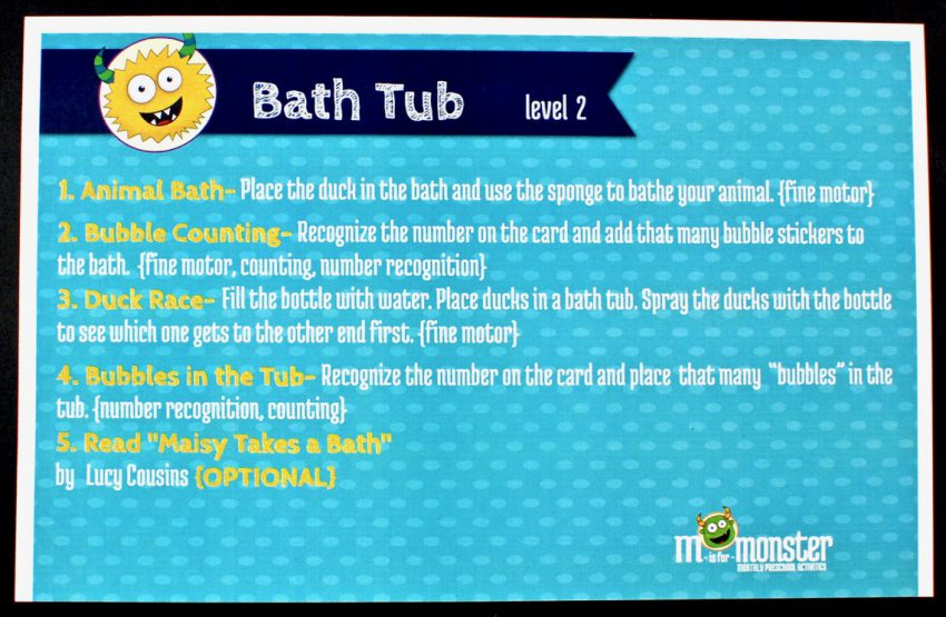 M is for Monster bath theme