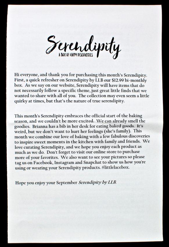 September 2016 Serendipity review